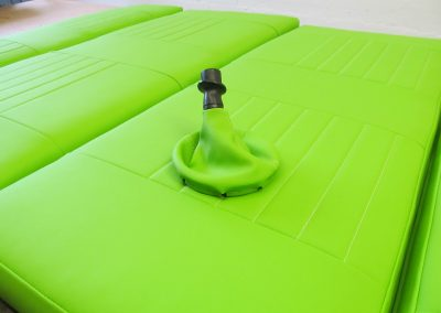 camper gallery CAMPER GALLERY rock and roll bed and gaiter bright green vinyl 400x284