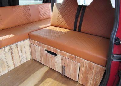camper gallery CAMPER GALLERY rock and roll bed brown vinyl single Bentley stitch 400x284
