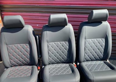 camper gallery CAMPER GALLERY vw campervan single cab seats with Bentley style stitching 1 400x284